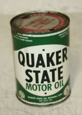 Early Quaker State Tin Motor Oil Can Quart Empty Gas Station