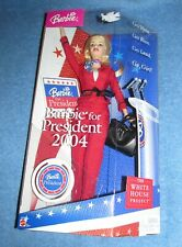 BARBIE DOLL 2004 FOR PRESIDENT THE WHITE HOUSE PROJECT BLONDE --NEW