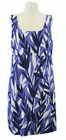 BODEN Women's Blue / White Printed Sleeveless Side-Zip Tunic US Size 2 R NEW