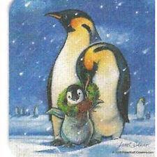 8 Absorbent Drink Coasters Christmas Spirit Designs - Pinguins