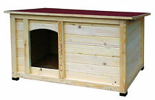 Garten Hundehütte groß XXL XL Holz Hundehaus Hundezwinger Hundestall Hundebett