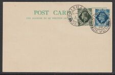 More details for sg 473-4  kgvi 9d/10d deep olive green/turquoise blue pair on first day cover
