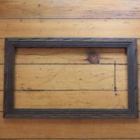 """Vintage 13-3/4"""" x 22-3/4"""" Carved Wood Picture Frame"""