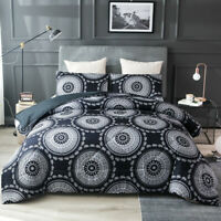 Mandala Comforter Set Light Bohemian Bedding Quilt Microfiber Boho + Pillowcase