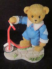 Cherished Teddies Colby Bear On Scooter Sometimes Life Needs A Little Push