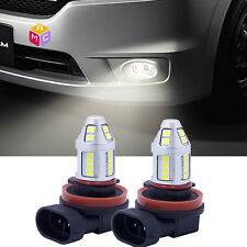 Pair CREE H8 H11 Led Fog Light Drivng Epistar 2835 30chip High Power White 6000k