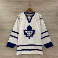 Toronto Maple Leafs CCM NHL Hockey Blank Jersey Size Large
