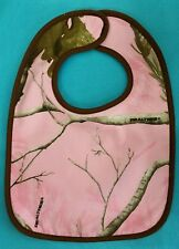 PINK CAMOUFLAGE CAMO LARGE BABY BIB GIRL BY CUSTOM BABY REALTREE