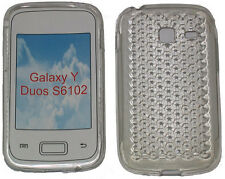 For Samsung Galaxy Young Y Duos GT S6102 Pattern Gel Case Protector Cover Clear