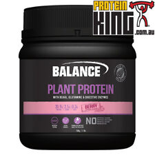 BALANCE PLANT PROTEIN 500G BERRY NATURAL GLUTEN DAIRY SOY FREE VEGAN BCAA BSC