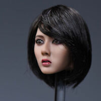1/6 Scale Asia Female Head Bob Short Hair Girl Head Sculpt F 12'' Phicen Body