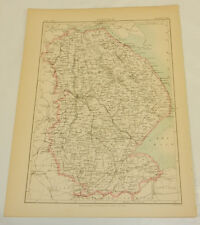 1882 Antique COLOR Map/LINCOLN, ENGLAND