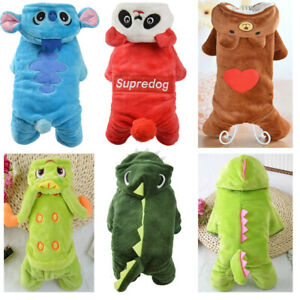 Pet Puppy Cute Warm Winter Soft Sweater Hoodie Jumpsuit Coat Clothes Outwear