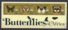 Tanzanie 2011 papillons n° 3777 à 3780 feuillet neuf ** 1er choix