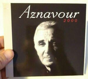 CHARLES AZNAVOUR (2000) ♦ Edition Limitée ♦ QU'AVONS-NOUS FAIT DE NOS 20 ANS