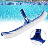"18"" Plastic Brush for Swimming Pool Wall Floor Algae Head Heavy Duty Clean Tool"