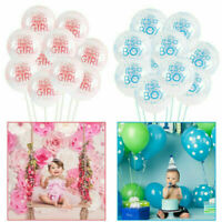 15Pcs Its A Boy Its A Girl Latex Balloons Baby Shower Party Decoration 12""