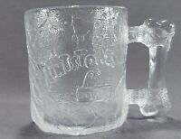 McDonald's Flintstones Clear Glass Pre-Dawn Coffee Cup Mug 1993