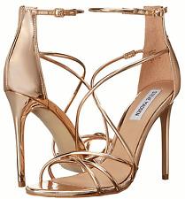 NEW Steve Madden SATIRE Rose Gold Heels Pumps 6, 7 Strappy Sandals High Heels