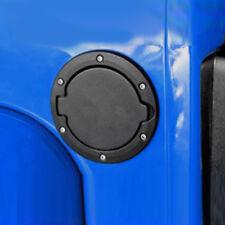 Black Fuel Filler Door Cover Gas Tank Cap 2/4 Door For 07-18 Jeep Wrangler