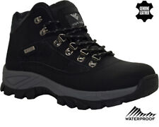 Mens Leather Waterproof Ankle Boots Walking Hiking Trekking Boots Trainers Shoes
