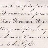 Louis Henri Blouquier De Trelan Sonnay Cravant 1875