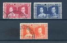 New Zealand 1937 Coronation set SG599/601 Fine Used