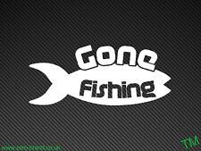Gone Fishing divertente Auto Paraurti / Finestrino Adesivo Decalcomania Vinile Golf Sport Sportivo