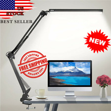 LED Desk Lamp Adjustable Metal Swing Arm Desk Lamp with...