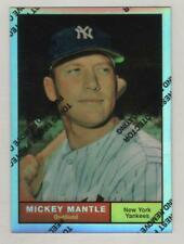 w film peel 1996 Topps Finest Mickey Mantle Refractor 1958 Reprint #8