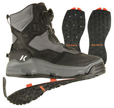 Size #9 Korkers Darkhorse Wading Fishing Boot, Studded +Kling-On Soles