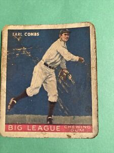 Goudey Earle Combs Aged Reprint
