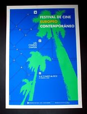 "Original Cuban SILKSCREEN Poster""FESTIVAL OF CONTEMPORARY EUROPEAN CINEMA""Palms"