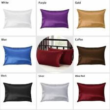 1PC Pure Silk Pillowcase Soft Pillow Case