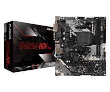 ASRock B450M-HDV R4.0 AM4 AMD Promontory B450 SATA 6Gb/s Micro ATX Motherboard