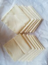Vintage linen tablecloth Co. (12)napkins Ivory color - brand new