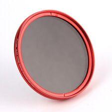 FOTGA 49mm ajustable Fader Variable Nd Filtro ND2 to ND400 Rojo Anillo