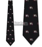 Silk Bulldogs Tie Mens Licensed Neck Ties Georgia Bulldogs Neckties NWT