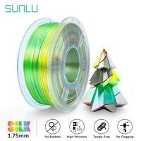 SUNLU 3D Printer Filament PLA PLUS SILK RAINBOW 1.75mm 1KG/2.2LB Multiple color