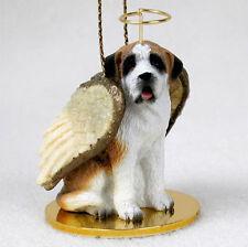 Saint Bernard Dog Figurine Angel Statue Smooth