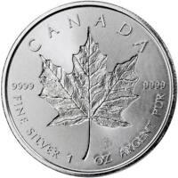 2018  Silver 1 oz. Canadian Maple Leaf Incuse BU