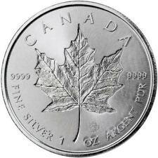 2018  Silver 1 oz. Canadian Maple Leaf Incuse BU
