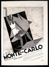 MONTE-CARLO 1930 Princess of the Cote D'Azur - ART DECO FRENCH ADVERT
