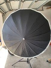 "Photek 60"" Umbrella with Diffusion, Fiberglass Frame,  Removable Shaft,Silver"