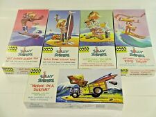 Hawk Classics Silly Surfers Lot of 5 Plastic Model Kits Complete Set Retro Cool!