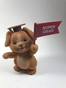 Russ Graduation Golden Lab Puppy Dog Plastic Flocked Fur