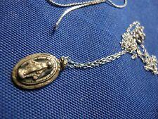 Silver Religious Necklace Grandmas Estate 925 Sterling