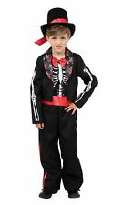 Boys Halloween Fancy Dress Day Of The Dead Outfit Costume Spooky Medium