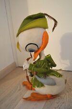 "Rare Jacovitti Lenci Duck Disney 60s Robin Hood cloth doll 21,6"" quaqualoca"