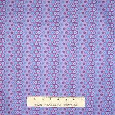 Circle Fabric - Butterflies Purple & Blue Stripe - Lyndhurst OOP YARD